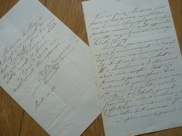 COMTE Georges RIQUET De CARAMAN (1790-1860) Ambassade LONDRES, LA HAYE, Washington - 2 X AUTOGRAPHE - Autographs
