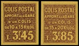 FRANCE Colis Postaux ** - Spink 149A/B, Non Dentelés - Cote: 550 - Parcel Post