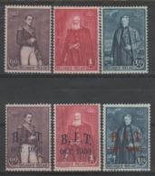Belgique - 1930 - * - COB 302/307 - Valeur 33.75€ - Ongebruikt