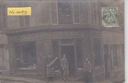 MEUDON : Devanture Du Boulanger MERAT -  Superbe Carte Photo - Commerce - Meudon