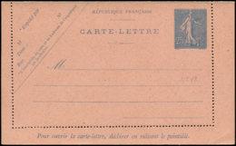 FRANCE Entiers Postaux N - 132 CL 1, Carte Lettre: 25c. Bleu Semeuse Lignée - Cote: 150 - Postwaardestukken