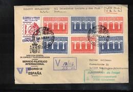 Spain 1984 Interesting Value Declared Letter - Europa-CEPT