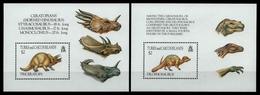 Turks- & Caicos 1993 - Mi-Nr. Block 126-127 ** - MNH - Prähistorische Tiere - Turks & Caicos