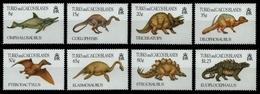 Turks- & Caicos 1993 - Mi-Nr. 1106-1113 ** - MNH - Prähistorische Tiere - Turks & Caicos