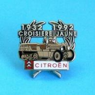 1 PIN'S //   ** LA CROISIÈRE JAUNE / 1932 \ 1992 / CITROËN DE BEYROUTH à PÉKIN ** . (Arthus Bertrand Paris) Double Moule - Rallye