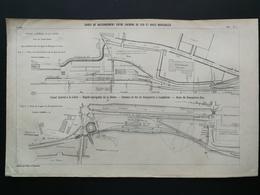 ANNALES DES PONTS Et CHAUSSEES (Dep 49) - Gares De Raccordement Entre Chemin De Fer Et Voies Navigable -1903 (CLE50) - Architecture