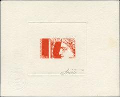FRANCE Epreuves D'Artiste EPA - 1837, épreuve D'artiste En Vermillon, Signée: 6f. Arphila 75 - Artistenproeven