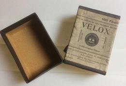 2 Boites (vides) Velox, A Developing Per, 100 Feuilles (6X8,5x3 Cm) / Grands Instantanés J. Jougla, Plaques à L'iode-bro - Zubehör & Material
