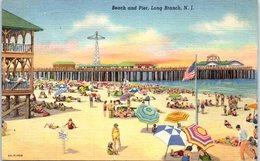 Amérique - Beach And Pier, Long Branch, N.J. - Etats-Unis