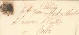 España. 1872. Envuelta Circulada A Valls. Llegada Al Dorso. - 1870-72 Regency