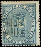 España. (*)142Bhh. 10 Cts. Habilitación Provisional De Tarragona, Doble. Raro. - 1868-70 Provisional Government