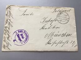 Feldpost 1.WK 1918 BAYR. ARMEEFLUGPARK C - Deutschland