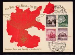 "18818 - PROPAGANDA POSTCARD PROMOTING THE BRESLAU ""TURN UND SPORTFEST"" - Oorlog 1939-45"