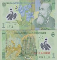 Rumänien Pick-Nr: 117f Bankfrisch 2011 1 Leu (plastic) - Rumänien