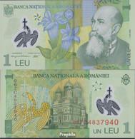 Rumänien Pick-Nr: 117b Bankfrisch 2006 1 Leu (plastic) - Rumänien