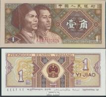 Volksrepublik China Pick-Nr: 881b Bankfrisch 1980 1 Jiao - China