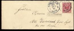 S7914 - DR Briefumschlag : Gebraucht Berlin 29 - Westerland Sylt 1897, Bedarfserhaltung. - Briefe U. Dokumente