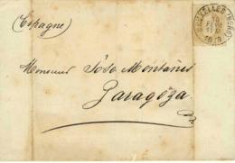 Belgique. Cover From Bruxelles To Zaragoza, 10/2/1878. - 1915-1920 Alberto I