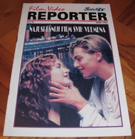Kate Winslet Leonardo DiCaprio Titanic - REPORTER Serbian April 1998 VERY RARE - Bücher, Zeitschriften, Comics
