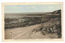 CPA 85 BRETIGNOLLES-SUR-MER LA PLAGE ET LES ROCHERS - Bretignolles Sur Mer