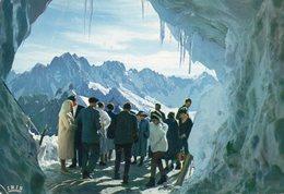 Chamonix - Mont Blanc - Téléphérique De L 'Aiguille Du Midi,le Tunnel De Glace - Chamonix-Mont-Blanc