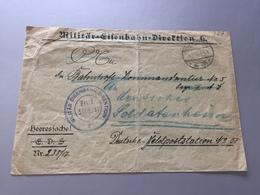 Feldpost 1.WK 1917 MILITÄR EISENBAHN DIREKTION 6 - Covers & Documents