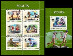 SIERRA LEONE 2018 - Scouts - Mi 10276-81 + B1516 - Zonder Classificatie