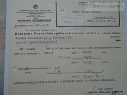 ZA192.7 Magyar Általános Hitelbank - Magyar- Német Devizakompenzáció 1942 Budapest - Invoices & Commercial Documents