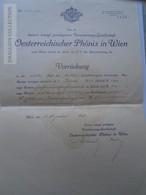 ZA192.9  Österreichischer PHÖNIX In WIEN  1912  Herrn Gyula Lukács Temesvár - Insurance - Autriche