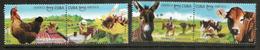 2018 UPAEP Cuba (animaux Domestiques)  4 Timbres Neufs ** En Paires Se-tenant - Cuba