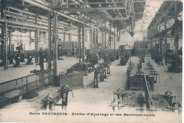 GRENOBLE - ECOLE VAUCANSON - ATELIER D'AJUSTAGE ET DES MACHINES OUTILS (C P DE CARNET) - Grenoble