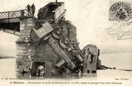CP Mézières Destruction Du Pont De Chemin De Fer En 1871 - Reproduction - Ferrovie
