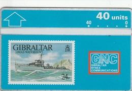 Gibraltar -  Warships 1993 - HMAS Waterhen - Gibraltar