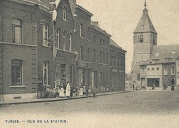 +++ CPA - TUBIZE - Rue De La Station - Carte Animée   // - Tubeke