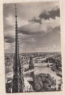 """9AL1062 Paris NOTRE DAME  LA CATHEDRALE VUE D""""EN HAUT ECHAPEE SUR LA SEINE 2 SCANS - Notre Dame De Paris"""