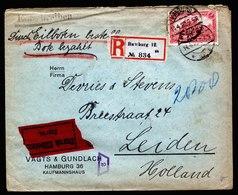 A6139) DR R-Expressbrief Hamburg 14.04.20 N. Leiden / NL M. EF Mi.94BII - Briefe U. Dokumente