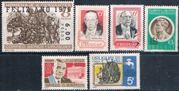 Uruguay 1968 / 71  -  Yvert  773 + 777 + 784 + 812 + AEREOS  356 + 358  ( ** ) - Uruguay