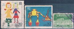 Uruguay 1960 / 70  -  Yvert  94 + 795 + 798   ( Usados  ) - Uruguay