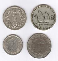 Lot De 4 Fausses Monnaies Asie - Chine Japon Indochine - Exonumia - Coins