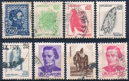 Uruguay 1973 / 79  -  Yvert  847 + 948 / 51 + 969 + 997 + 1035   ( Usados ) - Uruguay
