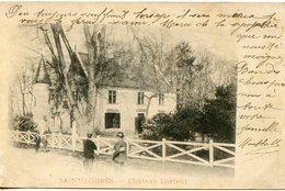 1127. CPA 33 SAINT-LOUBES. CARTE EN GRANDE PARTIE DEDOUBLEE. CHATEAU LORIENT 1903 - France