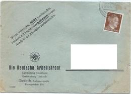 Diekirch - Deutsche Arbeiterfront - Gauwaltung Moselland 06-08-1942 - Besetzungen