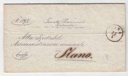 Croatia Giunta Provinciale Dalmatia Official - Ex Offo - Letter Travelled 1868 Zadar (Zara) To Slano B190415 - Kroatien