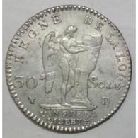 Gad 39 - CONSTITUTION - 30 SOLS FRANCOIS - 1793 D - TTB - - 987-1789 Monete Reali