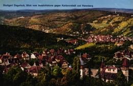 Stuttgart - Degerloch, Blick Vom Aussichtsturm Gegen Karlsvorstadt Und Hasenberg, Um 1910/20 - Stuttgart