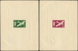 GUADELOUPE Poste Aérienne EPL - 4/5, 2 épreuves De Luxe: Série Londres - Cote: 40 - Guadeloupe (1884-1947)