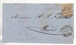 SUISSE  Lettre De 1868 - 1862-1881 Helvetia Seduta (dentellati)