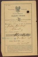 1867 OSNABRÜCK Aufgabe-Schein Provinz Hannover,Loch Durch Tintenfraß - Deutschland