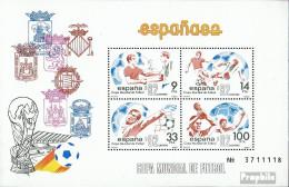 Spanien Block26 (kompl.Ausg.) Postfrisch 1982 Fußball-WM '82, Spanien - Blocs & Feuillets