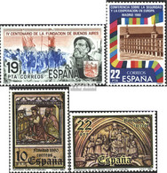 Spanien 2475,2482,2483-2484 (kompl.Ausg.) Postfrisch 1980 Buenos Aires, KSZE, Weihnachten - 1931-Heute: 2. Rep. - ... Juan Carlos I
